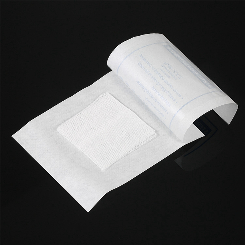 30 Piece Gauze Pad Cotton First Aid Waterproof Wound Dressing Sterile Gauze Pad Wound Care