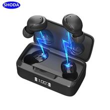 Shoda bluetooth ture fone de ouvido sem fio aptx botões de ouvido com cancelamento de ruído bluetooth handsfree fone de ouvido estéreo tws