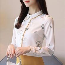 Korean Fashion Chiffon Women Blouses Long Sleeve White Women Shirts Plus Size XXL Blusas Femininas Elegante Ladies Tops korean fashion chiffon women blouses batwing sleeve white women shirts plus size xxl blusas femininas elegante ladies tops
