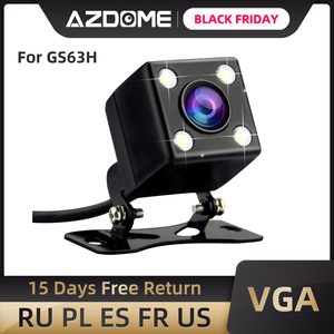 AZDOME Car Rear View Camera 2.5mm (4Pin) Jack Port Video Port With LED Night Vision For GS63H M06 dash cam Waterproof