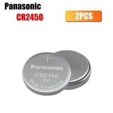 2 шт. Panasonic CR2450 Кнопка ячейки Батарея 3V 2450 ECR2450 KCR2450 5029LC LM2450 литий Батарея, duct Fan