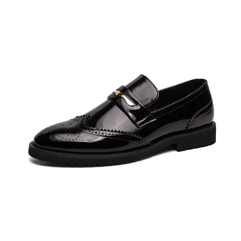 Large size 38-48 Men Leather Shoes Fashion Male Flats Round Toe Comfortable Office Dress Shoes wedding Men Business Shoes