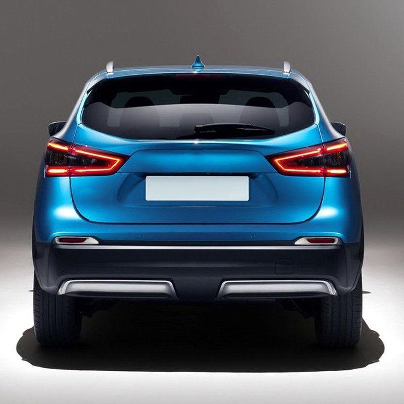 2Pcs Chrome Rear Fog Light Cover Trim Bumper For Nissan Qashqai J11 UK