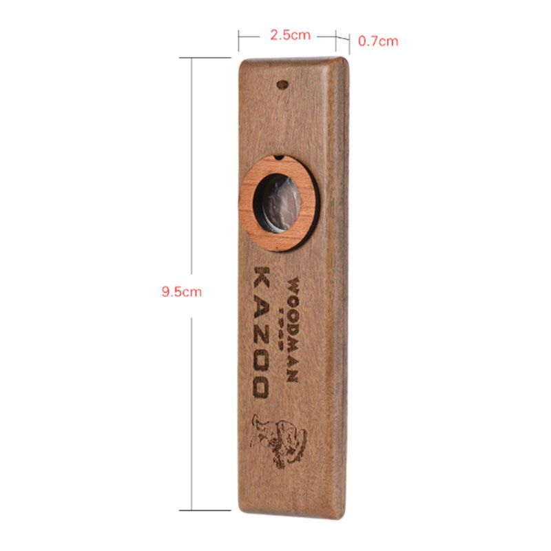 Wooden Kazoo Adult Kids Educational Musical Instruments Accompaniment For Bass Ukulele Guitar 1
