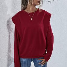 Женская толстовка с длинным рукавом и круглым вырезом на плече
