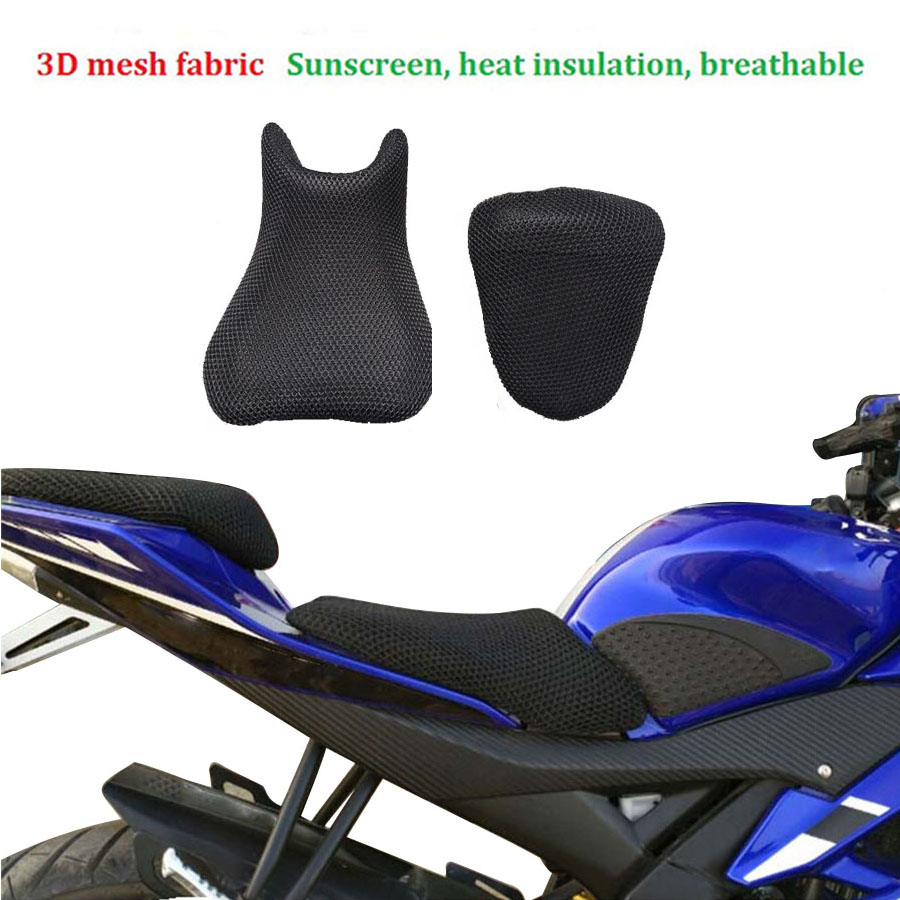 Motorcycle Heat Insulation seat cover 3D mesh fabric Cushion Breathable for Yamaha R15 waterproof in Seat Covers from Automobiles Motorcycles