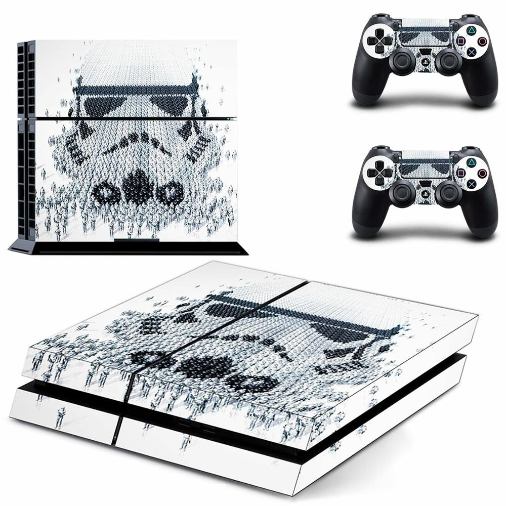 Film Star Wars PS4 Stickers Play station 4 Skin Sticker Decals Protector For PlayStation 4 PS4 Console & Controller Skins Vinyl image