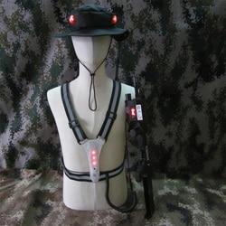 Etiqueta láser de pies con sensor V e s t y Hat, Rifle de asalto de transformación, arma de combate Editable profesional, sistema de combate láser