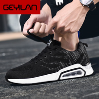 2019 Summer New PU air cushion thick soled men's sports shoes men Mesh Breathable Fashion trends tenis Running sneakers female