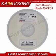 5000PCS 0603 Resistor SMD Accuracy 1% 0 ohm ~ 10M ohm 1K 2.2K 10K 100K 0 1 10 100 150 220 330 ohm 1R 10R 100R 150R 220R 330R