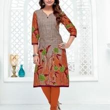 Индийская традиционная Курти рукав 3 четверти Хлопок Курта Болливуд дизайнерская Стильная туника топ с принтом женское платье Повседневная одежда для вечеринок