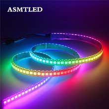 0.5 M/1 M/2 M/3M/4 M/5 M WS2812B LED Strip 30/60/144 Piksel/LED/M 2812 IC Smart RGB LED Light Strip Hitam/Putih PCB IP30/65/67 DC5V(China)
