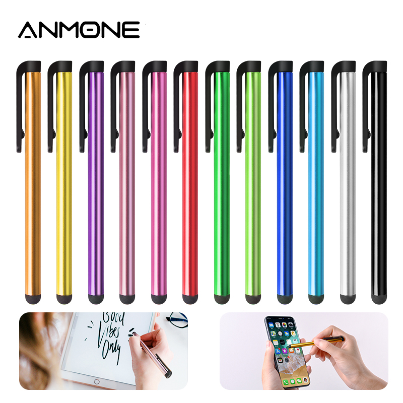 ANMONE 10PCS Metal Capacitive Touch Screen Stylus Pen For Phone & Pad Drawing Pen For Tablet PC Random Mixed Colors