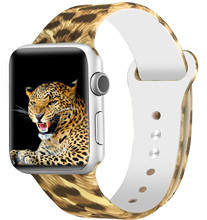 Printed Silicone Strap for Apple Watch 38mm/40mm 42mm/44mm Sport band for iwatch Series 4/3/2/1 Smart Watch Bracelet Wristband цена и фото