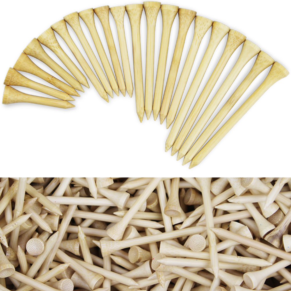 Bamboo Golf Tees Package Of 1000 Pcs 42mm 54mm 70mm 83mm Golf Tees Strong Tee Golf Ball Holder Drop Ship Custom Logo