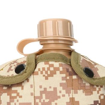 CNDRAGON Brand Large Capacity 1000ml Kettle sport Outdoor travel Bottle Portable Folding water bottle military camouflage bag 5