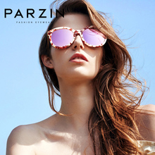 PARZIN Women Polarized Sunglasses Classic Big Frame Colors Lens Shield
