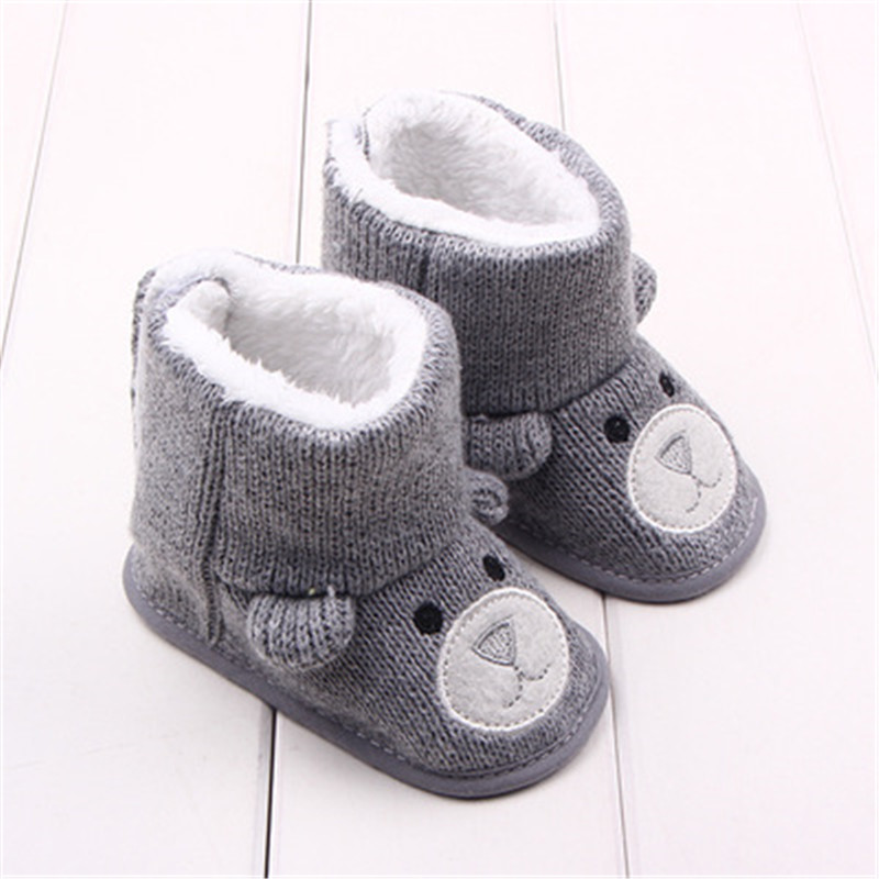 Baby Winter Boots Infant Toddler Newborn Cartoon Bear Shoes Girls Boys First Walkers Super Keep Warm Snowfield Booties Boot