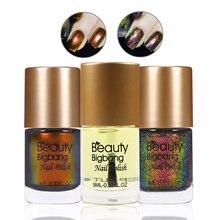3 шт beautybigbang набор для полировки ногтей лак голографические