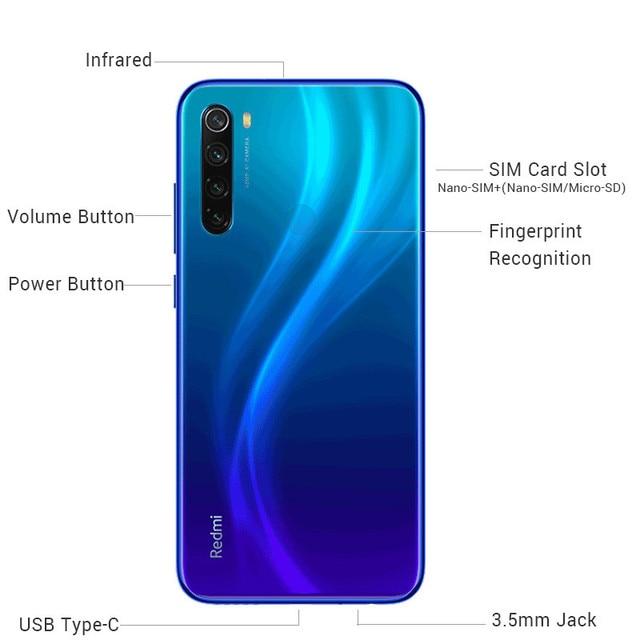 New Global Version Xiaomi Redmi Note 8 (2021) Mobile 4GB 64GB Helio G85 Octa Core 48MP Quad Camera 4000mAh Battery Smart Phone 4