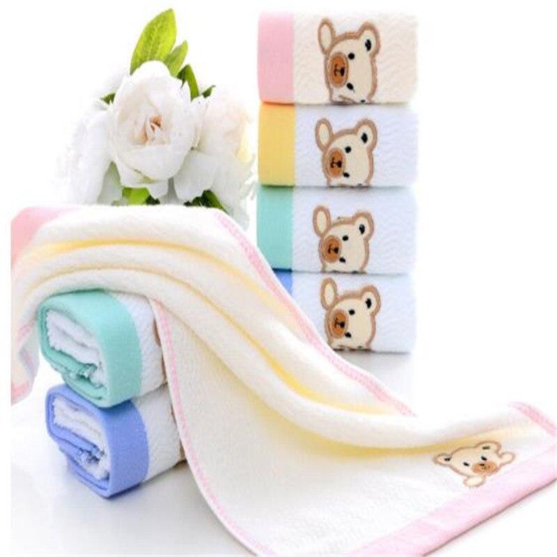 All Cartoon Stick Cotton Cloth Towel Baby Bear Children Special Close Skin Wash A Face Towel Bibulous Gift  6001A