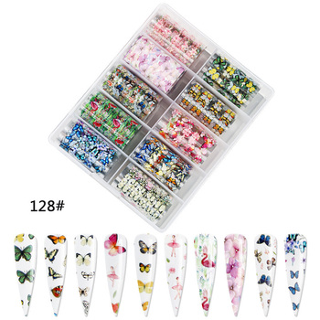 1set/lot 2.5*100cm Butterfly Spring Mix Flower Starry Sky Nail Foils set Transfer Sticker DIY Manicure Decoration Decals - 128