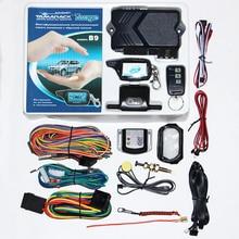 TAMARACK sistema de alarma para coche bidireccional B9 ruso, con arranque de motor, llavero para mando a distancia LCD, llavero para Twage B9
