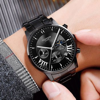 2020 Fashion Men`s Watch Quartz Steel Wristwatch Date Business Luxury Brand Montre Homme Relogio Masculino Zegarek Meski