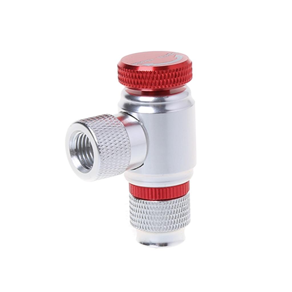 CO2 Pump Valve Bicycle Air Pump CO2 Inflator Adapter Bike Cycling Parts Repair Tools Aluminum Alloy Quick Pump|Bicycle Pumps| |  - title=