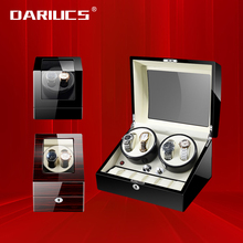 Luxury Single 2/ 4+6 Slots Watch Winder box Motor Auto Self Winding Wooden Cabinet Lacquer Rotate Watches Holder Watchwinder