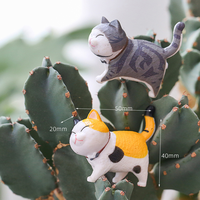 Lovely Cat Ornaments Creative Girl Ornaments Student Personality Home Decoration Accessories Desktop Model Birthday Gif 3