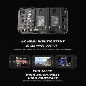 Image 2 - FOTGA A50TLS 5 Inch FHD Video On camera Field Monitor IPS Touchscreen SDI 4K HDMI Input/Output 3D LUT for A7S II GH5