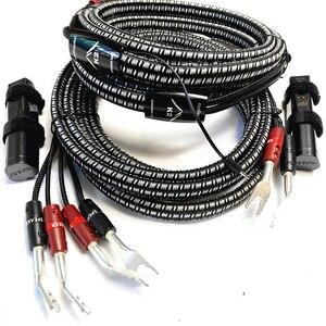Image 2 - Кабель для динамика K2, новинка, бесплатное обновление, 72 в, DBS, серебристый, банановый или лопатный штекер, пара, двухпроводной или однопроводный
