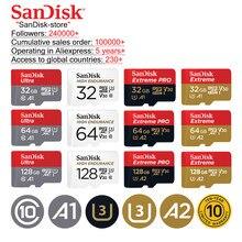 SanDisk-tarjeta de memoria Ultra para teléfono inteligente, 16GB, 32GB, 64GB, 128GB, microSD, microSDHC, UHS-I, tf, A1, 10 años de garantía