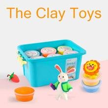 Воздушная глина 24 цвета игрушка полимерный Пластилин для игры