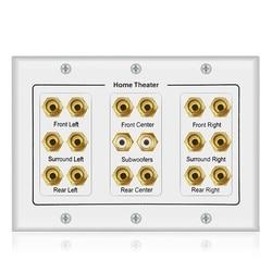 BEST8.2 płytka ścienna głośnika z 16 słupkami bananowymi i 2 RCA do kina domowego Surround w Akcesoria do głośników od Elektronika użytkowa na