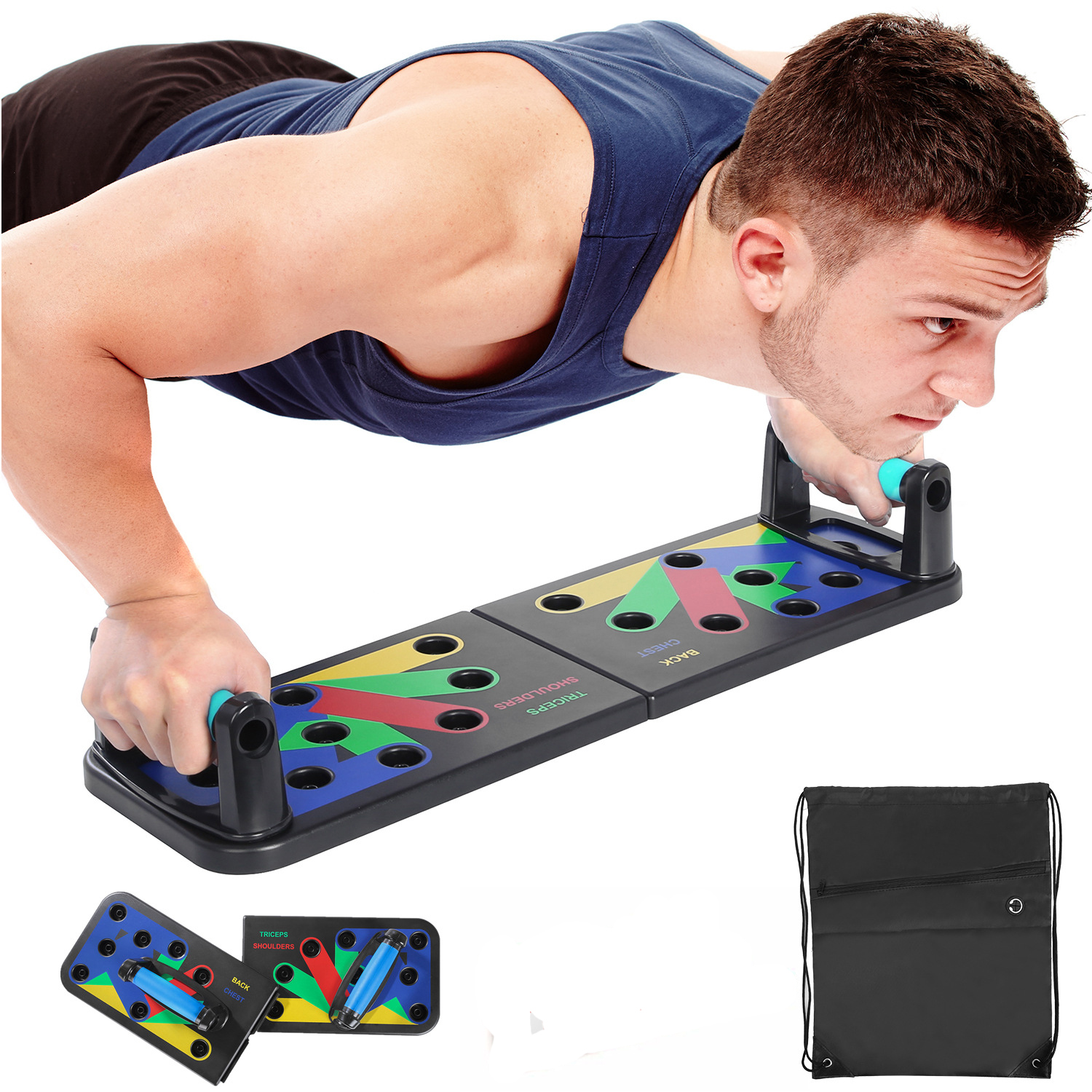 9 in 1 Push Up Board Home Gym Comprehensive Exerciser Foldable Adjustable push up Rack Stand Body Building Fitness Equipment|Push-Ups Stands|   - AliExpress