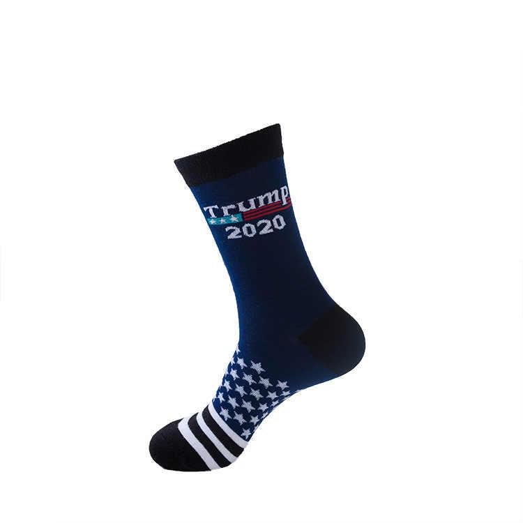 Calcetines de algodón felices cortos para hombre informales para mujeres divertidas con rayas de estrellas con bandera nacional