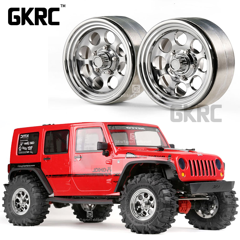 1.9 Inch Metal Wheel G08 Tomb Raider Retro Jeep Plated Wheel 1/10 Simulation Climbing Car Scx10ii Axial Trx-4 Rc4wd D90 D110