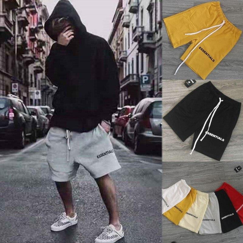 Hip Hop Shorts Justin Bieber Streetwear Essentials FOG Shorts Men/women Shorts Black/grey/white M-XL