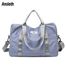 Ansloth Oxford Travel Duffle Bag Women Bag Solid Color Travel Bag Lady Large Capacity Shoulder Bag Female Luggage Handbag HPS801