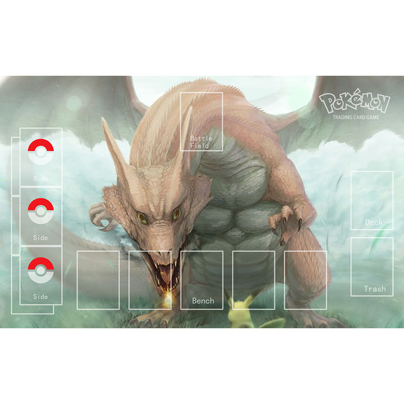 Pokemon Playmat Pikach Pad Charizard Mousepad PTCG Acessories Pokemon Trading Card Game Rubber Mat Entertainment image