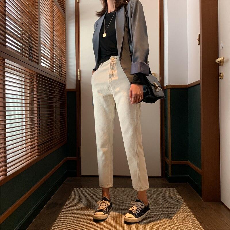 GUUZYUVIZ Boyfriend Jeans For Women Plus Size Jeans Woman High Waist Denim Pants Mujer Pantalones Vaqueros Mujer Korean Style