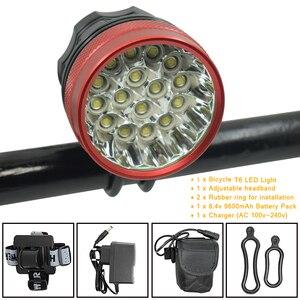 Супер яркий 40000lm велосипедный светильник 16 * XML-T6 Светодиодная лампа 3 режима велосипедный передний светильник головной светильник Аксессуа...