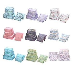 Packing Cube Luggage-Organizer Clothing Mesh-Bag Travel 6p/fashion Oxford High-Quality