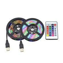 5 В USB Мощный светодиодный светильник 2835 SMD RGB кухонная лампа 1 м 2 м 3 м 4 м 5 м лампа лента для ТВ фона шкаф декоративный светильник ing