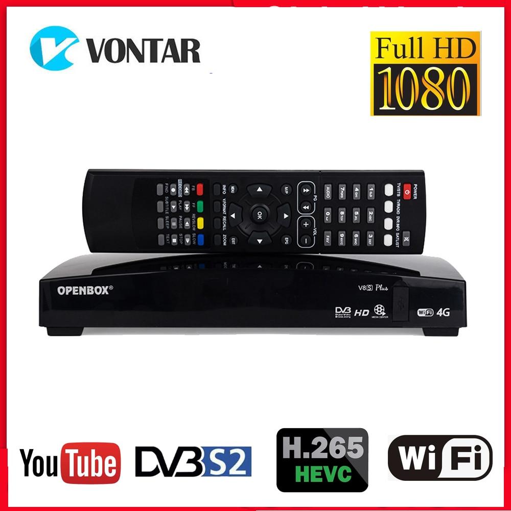 Openbox V8S плюс спутниковый Прием DVB S2 рецептор Satelite цифровая ТВ приставка поддержка DVB-S2 Xtream Youtube Biss ключ 3g