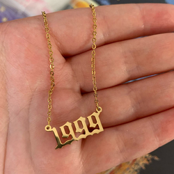 Custom Jewelry Special Date Year Number Necklaces for Women Men 1980 1989 1995 1997 1999 from 1980 to 2002 Collares
