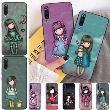 ByLoving Cartoon Lovely Santoro Gorjuss Black Soft Shell Phone Case Capa For Xiaomi mi 6 6plus a2 8 8se a2lite 8lite 9 9se mix2