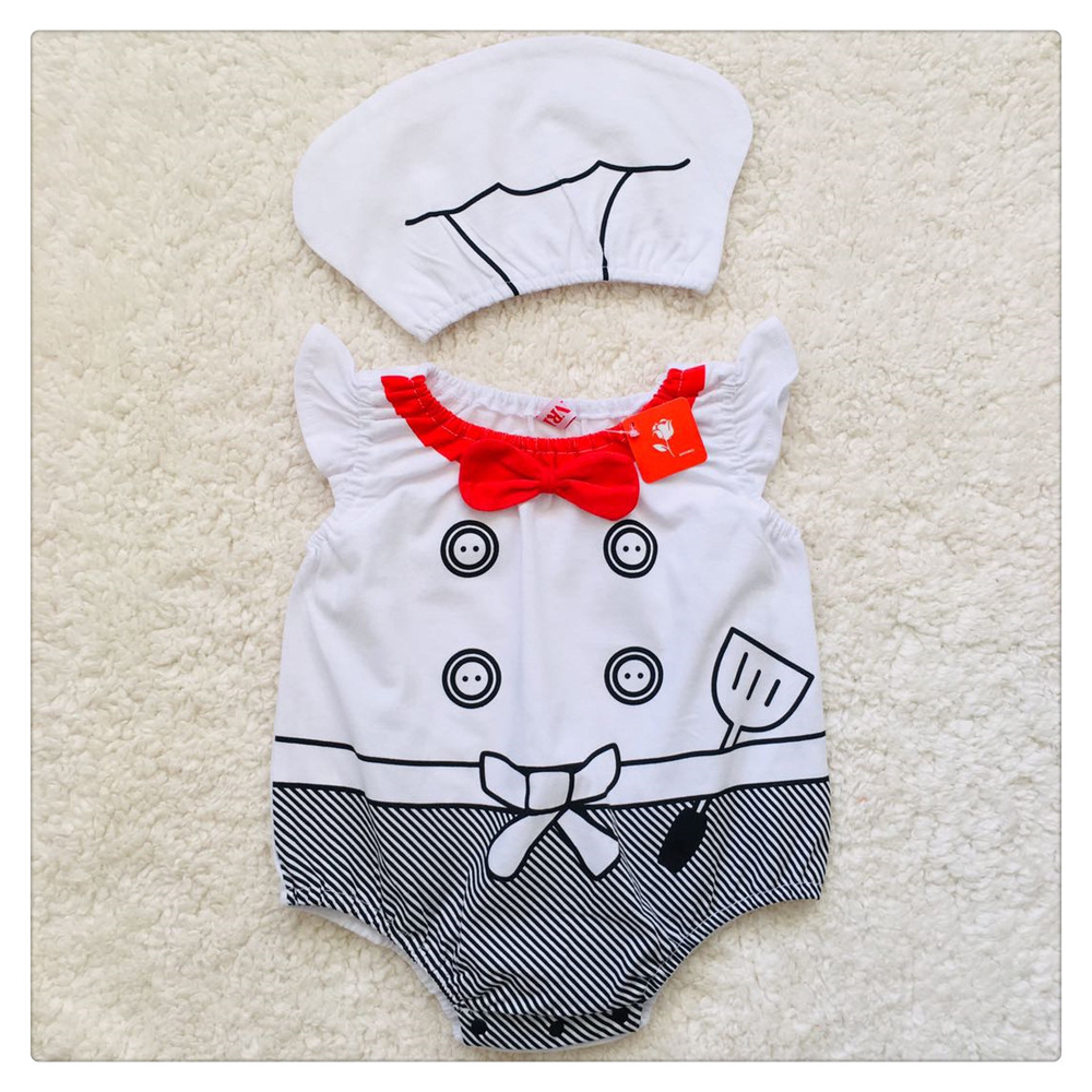 Baby Boys Cook Chef Costume Cosplay Rompers Jumpsuits for Infant Toddler Halloween Christmas Birthday Party Fancy Dress 2